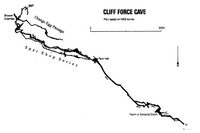 MSG J12 Cliff Force Cave Outline - Including Orange Egg Passage